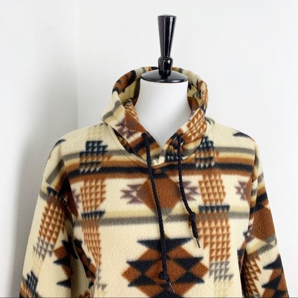 Vintage Southwest Boho Aztec Neutral Fleece